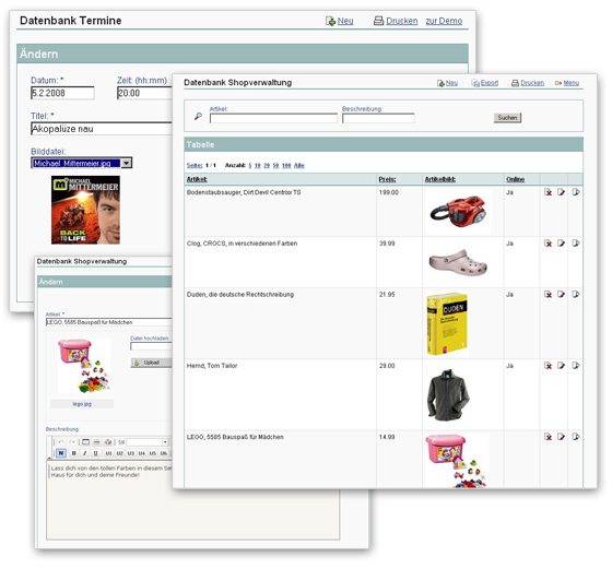 Datenbank Onlineshop